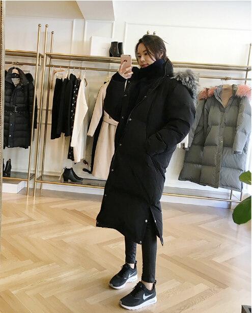 新しい冬ジャケット女性厚く暖かい綿パッド入りコート毛皮フード付きかわいいパーカー女性オーバーコートロングジャケット