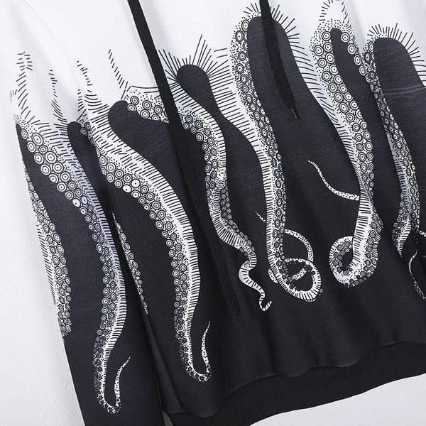 2017最新のファッションタコス長袖スエットシャツ女性の女の子フード付きプルオーバーパーカブラード(プラスSiz
