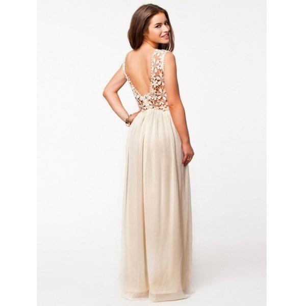女性のエレガントな背中の花嫁介添人ドレス中空レースの長いマキシイブニングドレス