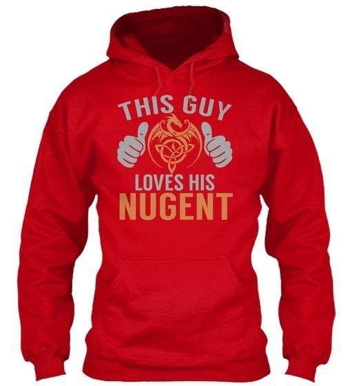 Nugent Guyの名前S Gildan Hoodieのスウェットシャツ