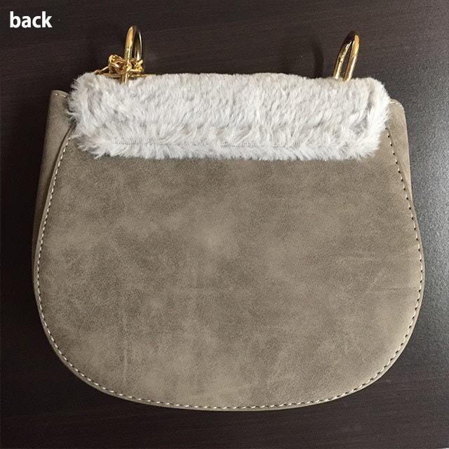 デートにお出かけに❤ファーチェーンバッグ【即納】鞄 バッグ ファー ショルダーバッグ チェーンバッグ 上品 シンプル レディース