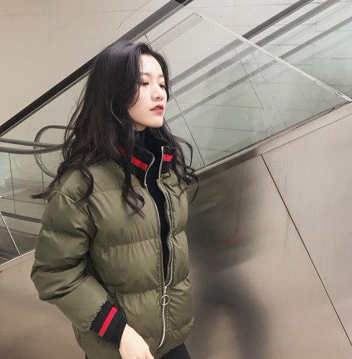 [55555SHOP]2017秋冬♪レディース♪トップス♪長袖♪原宿 ゆったり キルティング ジャケット 全2色