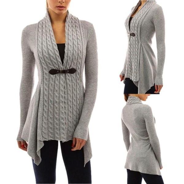 ファンタスティック女性長袖セーターカジュアルニットカーディガンアウターウェアS-XL