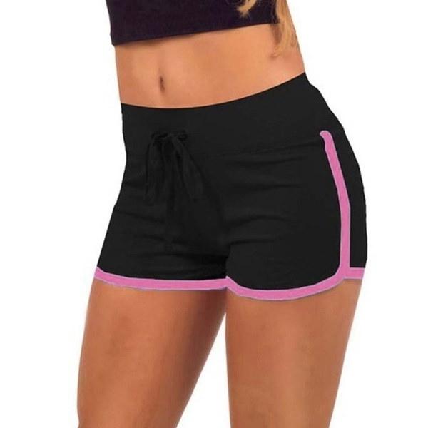 夏の女性ビーチホットショーツプラスサイズカジュアルコットンランニングショート女性のスポーツスポーツワークアウトS