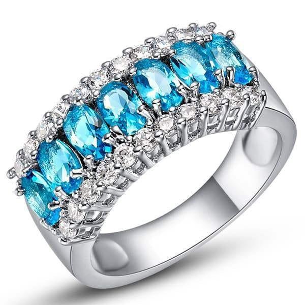 結婚式の花嫁のパーティーのためのラグジュアリー18Kゴールドダイヤモンドリング・注文925銀色の多色リングリング象嵌