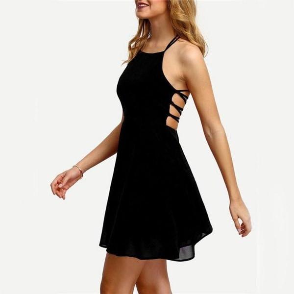 新しいファッション女性のパーティーカクテルバックレスバンデージノースリーブミニドレス