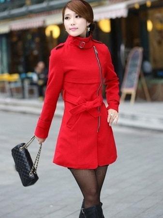 ファッション女性のスーパースタイリッシュウールブレンド暖かいロングコートジャケットベルトオーバーコートAP