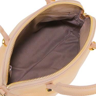 FURLA 884950-BEIGE CHIARO PIPERフルラ ハイパーショルダーストラップ付ハンドバッグレザー(ラミネート加工牛床革)ベージュ×ゴールド