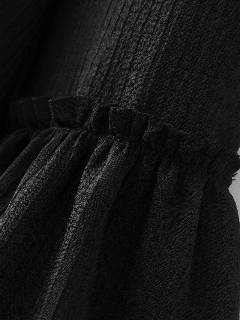 欧米風スリーブフレアのカジュアルスーツトップスアウター