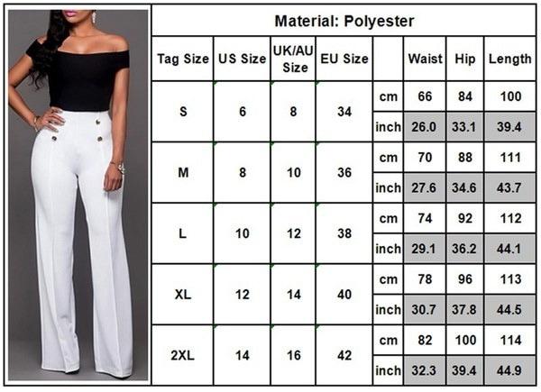 サイズ6-14新しいプラスサイズの女性ハイウエストプレーンズパラッツォロングパンツセクシーな女性ワイドレッグフレアパンツO