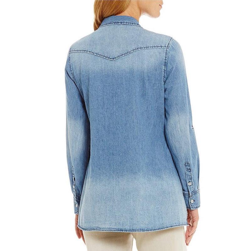 レバ レディース トップス ブラウス・シャツ【Reba Lace-Up Denim Shirt】Medium Wash