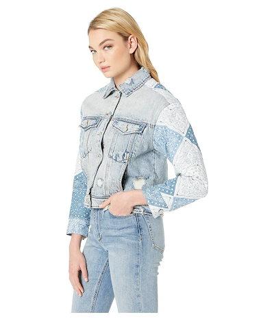 ブランクニューヨーク レディース コート アウター Denim Jacket with Quilted Patwork Detail in Wild Meadow