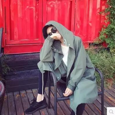 [55555SHOP]フード付き ジャケット★レディースアウター レディースジャケット カップル ユニセック ミリタリー フード付き 春 秋 韓国ファッション
