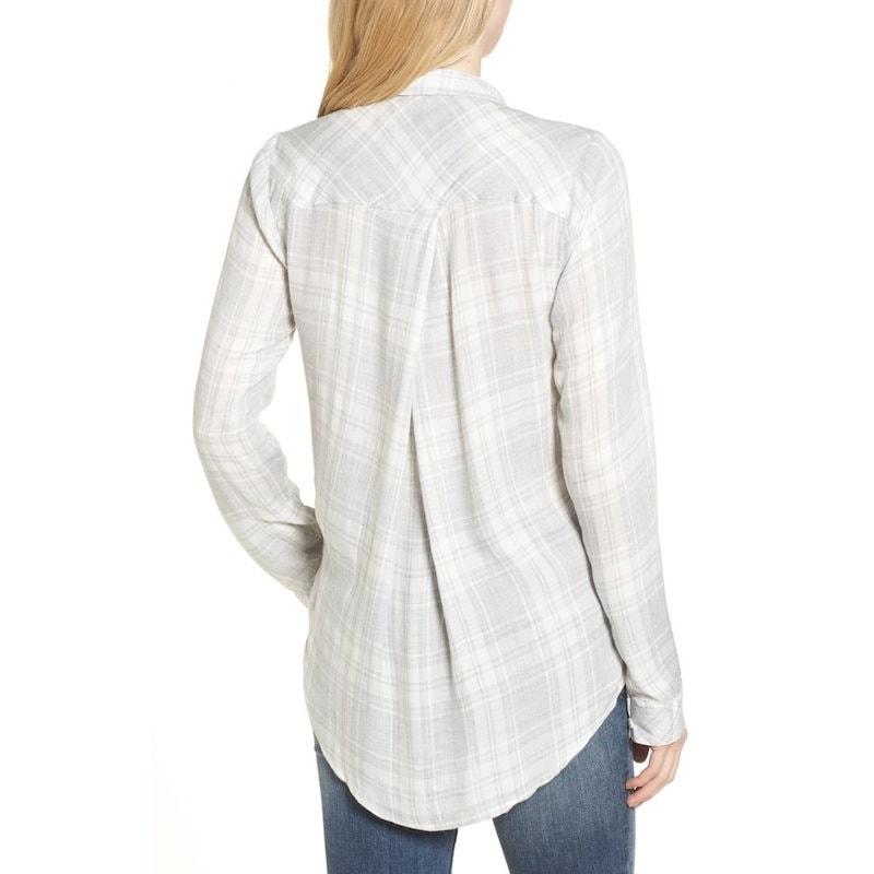 スレッドアンドサプライ レディース トップス ブラウス・シャツ【Zoey Plaid Shirt】Light Grey