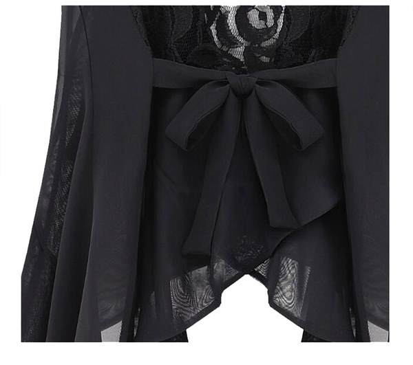 Super Hot Women Slim Asymmetric Chiffon Cardigan Vest Long Lace Clip Waistcoats