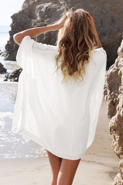 レースビキニカバー水着ビーチチュニックサロンズビーチウェアパレオ女性セクシードレス水着スウィーム