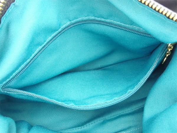 コーチ COACH ショルダーバッグ ワンショルダー レディース  ロゴボタン ブラック×ブルーグリーン×ゴールド  激安 セール 【中古】 N320 .