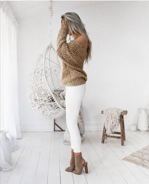 新ファッション女性ショルダーニットトップスセクシールースバットウィングロングスリーブセータープルオーバージャンパーK