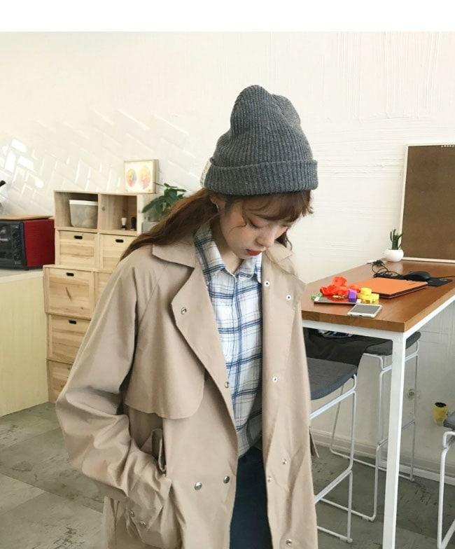 レディース服 女性 ファッション コート アウター トレンチコート ロング丈 秋服 ダブルボタン ゆったり フリーサイズ ストリート風 カジュアル ガーリー