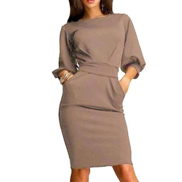 2017春の女性半袖Clubwear OLミニドレス