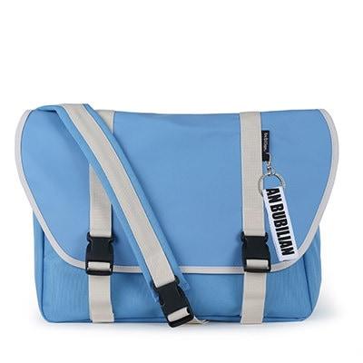 【BUBILIAN] Simple Messeger Bag メッセンジャーバッグ / 韓国の街ブランド/韓国と日本のベストセラーリュックサック/ベーシックリュックサック/旅行鞄 / Sky Blue