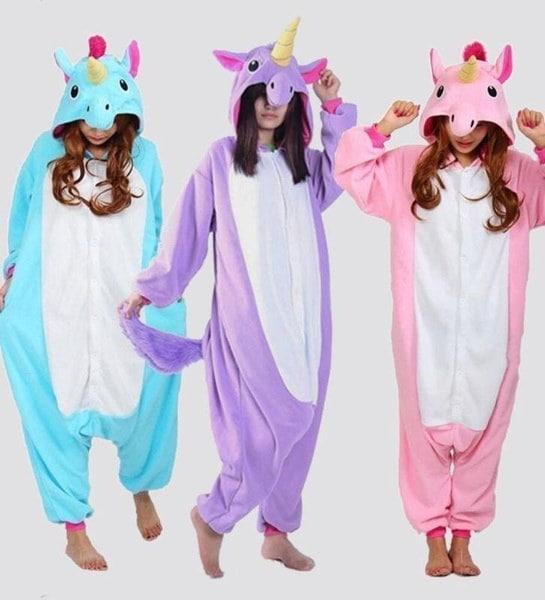 S-XL 2017ファッションコスチュームOnesie Sleepwearユニコーンキギュルパジャマアニマルコスプレユニセックス