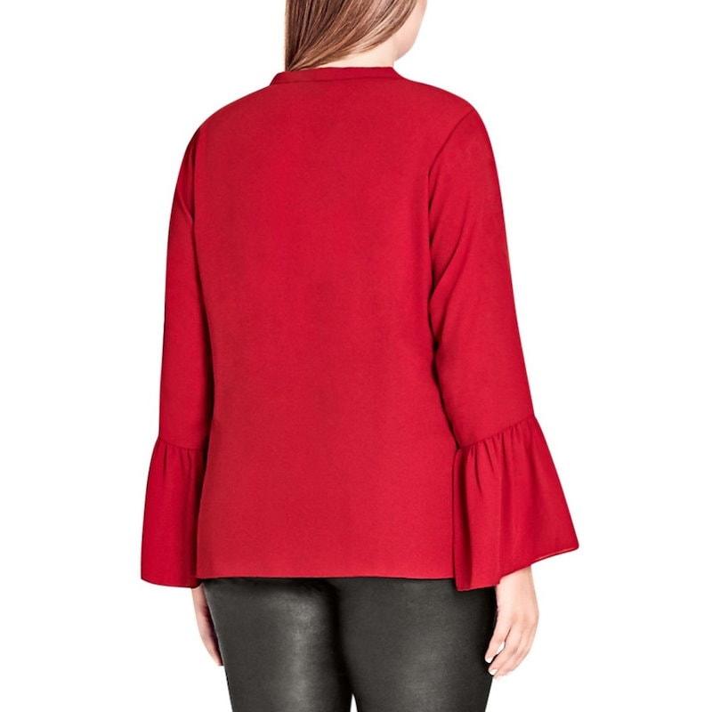 シティーシック レディース トップス ブラウス・シャツ【Office Fling Shirt】Red Rose