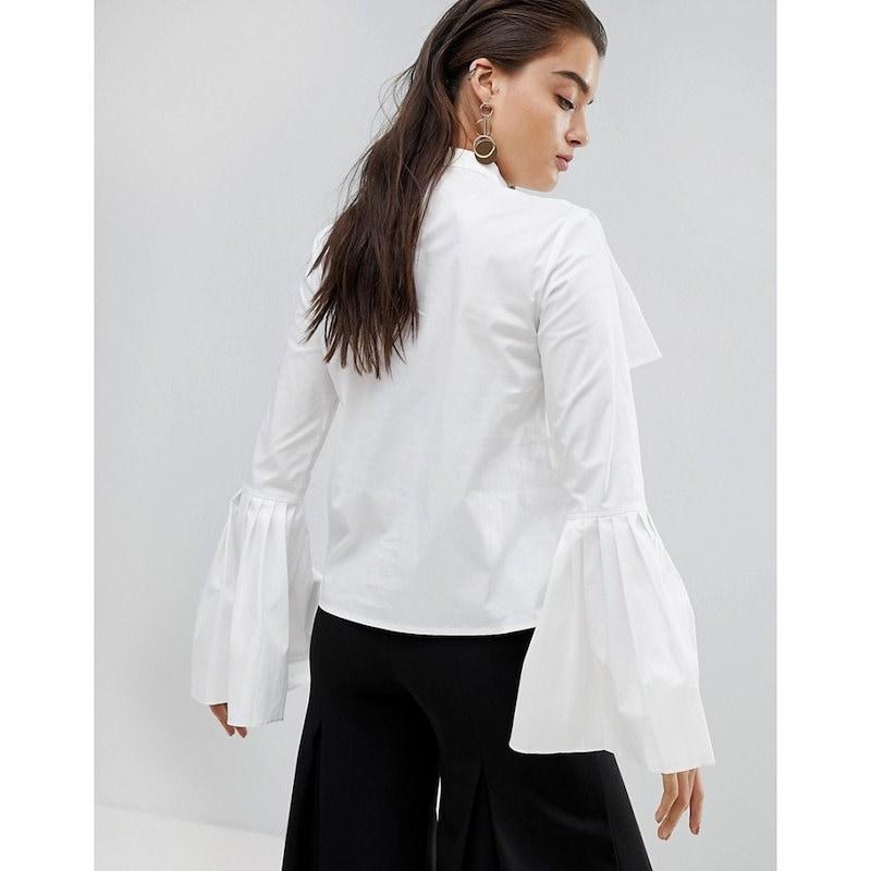 スタイル マフィア レディース トップス【Stylemafia Gianni Fluted Sleeve Top】White