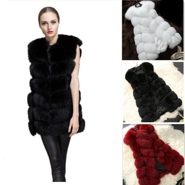 2017 Winter Women Warm Coat Fur Vest Plus Size Faux Fur Coat  57c7ba7c3318cb1f83bc9df9