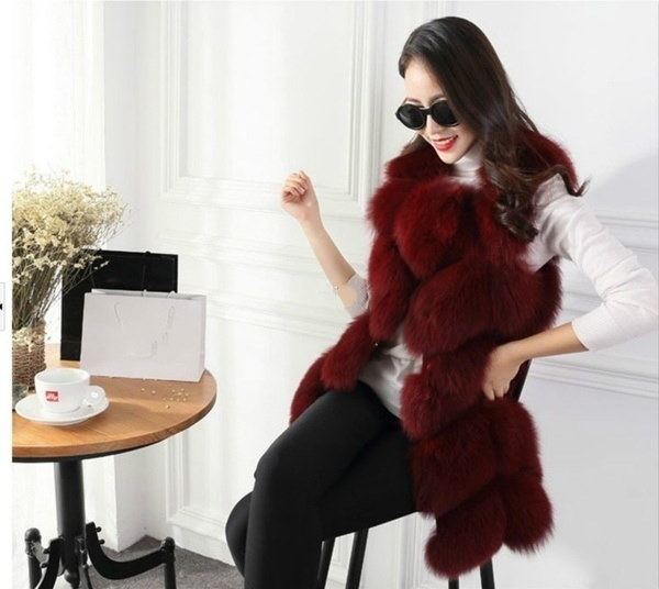 2017 Winter Women Warm Coat Fur Vest Plus Size Faux Fur Coat  57c7ba7c3318cb1f83bc9df9
