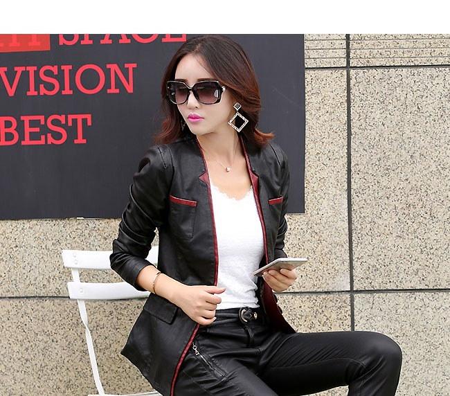 レディースファッション 女性 フェイクレザー 合皮 コート アウター ショート丈 大きいサイズ vネック 通勤 エレガント 洗練なデザイン
