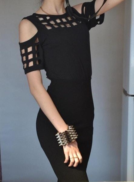 2017レディースショートスリーブTシャツレディースファッションレッドピンクブラックホロースリム春夏カジュアル