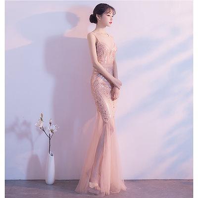 ロングドレス パーティードレス 結婚式 二次会 ワンピース 結婚式ドレス お呼ばれワンピース 20代 30代 40代 黒 レース 刺繍