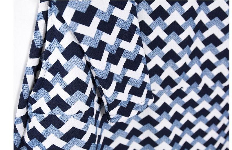 『韓国製』SELLISHOP  Zig zag ワンピース「大きいサイズ 大人 韓国 ファッション・結婚式・フォマール 黒 フレア 30代 40代 50代 スレンダー・Aライン,シャツ・上品・ロング