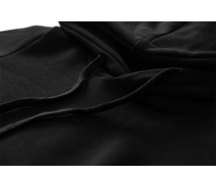 パーカーワンピ カジュアル ロング パーカー ワンピース フード付き スカート スポーティ 秋冬 オシャレ スリム 重ね着 マキシ丈 ロングスカート 体系カバー スポカジ ブラック 黒 韓流 韓国 ファッション レディース リラックスウェア ロンスカ 無地 (66-40) ※納期に10日から14日ほどかかります。
