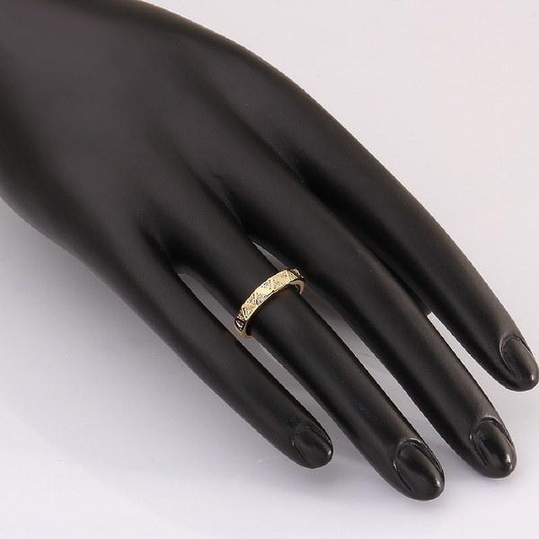 シックなファッションオーナメント女性Sゴールド/ローズゴールド/プラチナメッキ象嵌ジルコンリングジオメトリシェイプ