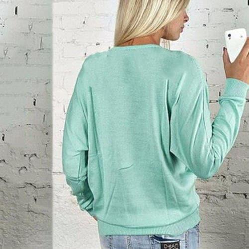 セクシーな女性の深いVのTシャツジップアップロングスリーブトップスプルオーバースウェットジャンパーコート