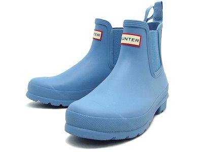 HUNTERHUNTER - <レディース>オリジナル チェルシー BSY Women s ORIGINAL CHELSEA blue sky レインブーツ 長靴 ハンター