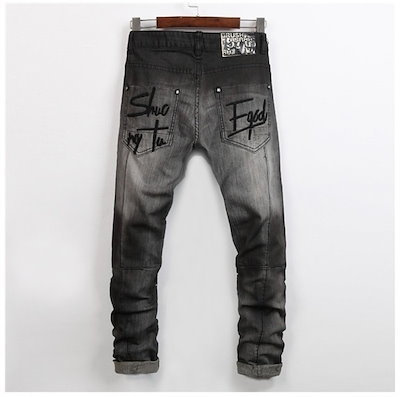 Fashion Men Jeans Men's Jeans Casual Skinny Pants Trousers Asian size ! HFL