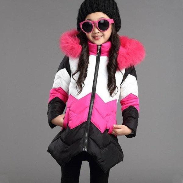 2017冬のファッション女の子の男の子のコート厚いコート大きなパッド入りの冬のアウターウェアコート子供服