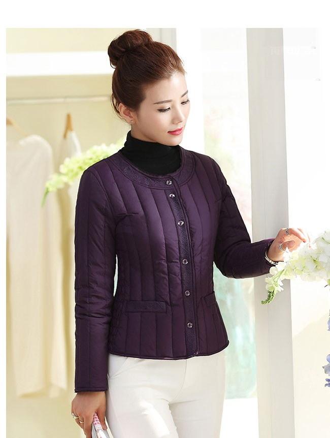 レディース服 女性 大人 冬 ダウンコート ダウンジャケット 丸襟 ショート丈 薄手 カジュアル シンプル 韓国風 ショート丈 上着 アウター アウトドア 韓国ファッション