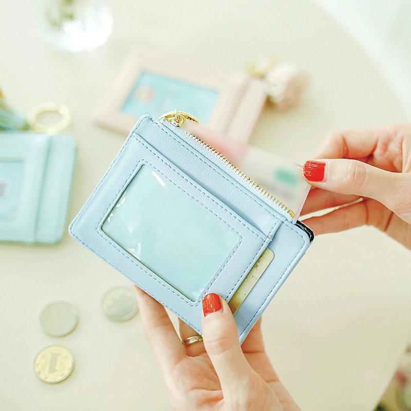 【国内即発】コインケース 小銭入れ カードケース レザー レディース 財布 札入れ キーリング ICカード 大容量 タッセル ファスナー コンパクト