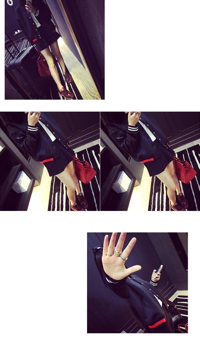 ★スターパッチスリーブブラックスタジャン★スウェット スタジャン ワッペン ロゴ レディース カジュアル カワイイ オシャレ アメカジ トレンド スター ゆったり メンズライク 韓国ファッション バイカラー★CELEBTV★