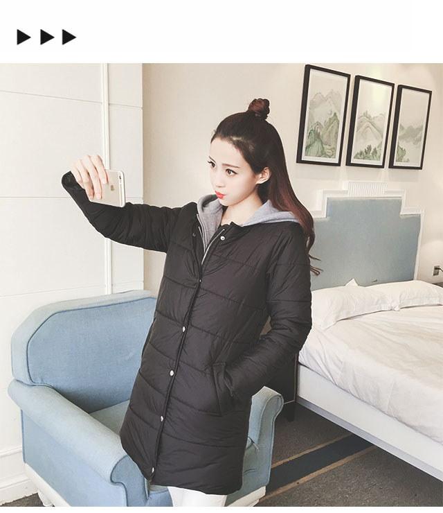 冬新作 中綿入りフードレイヤードコート 【即納】 アウター フード付き レディース 中綿入り レイヤード