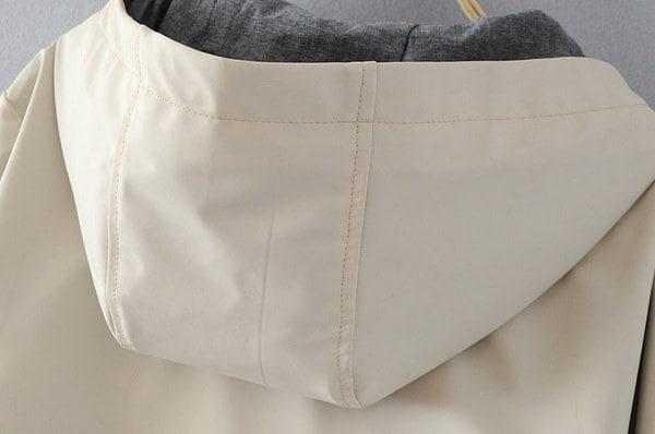 女性防水フード付きロングパーカーレインコートトランジションジャケットファンクションジッパープラスサイズウインドレーク