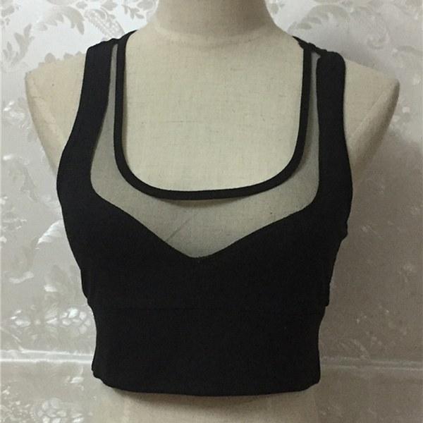 ファッション夏の女性のカジュアルタンクトップベストのブラウスノースリーブクロップトップスシャツ