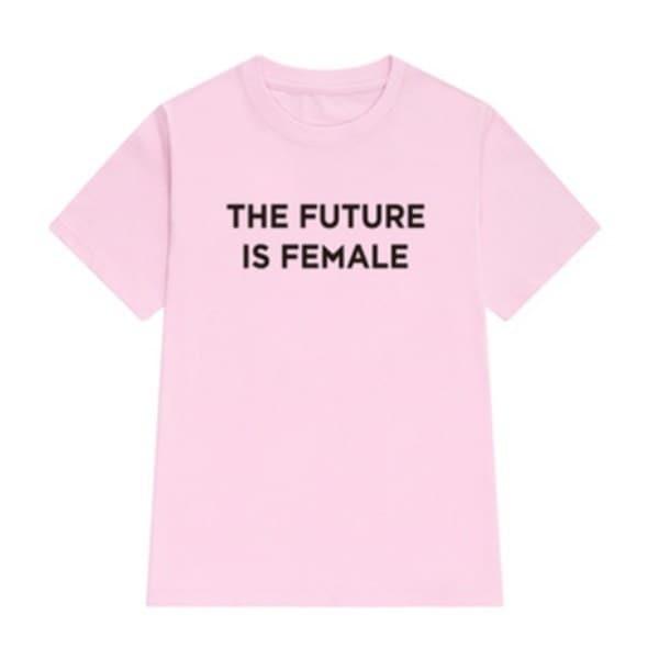 未来は女性グラフィックTEEフェミニストインスピレーションTシャツガールパワートップスティーフェミニストTシャツ