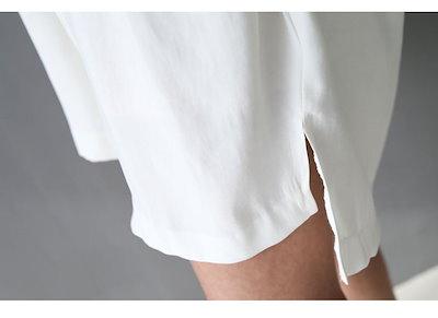 【送料無料】 レーヨン素材 ベルト付き シャツワンピー  膝丈 シャツワンピース 結婚式 二次会 オフィス  フォーマル パーティー お呼ばれ デート お出かけ 体型カバー トレ 韓国製