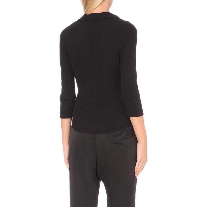 ジェームス パース レディース トップス ブラウス・シャツ【button-up cotton-jersey shirt】Black