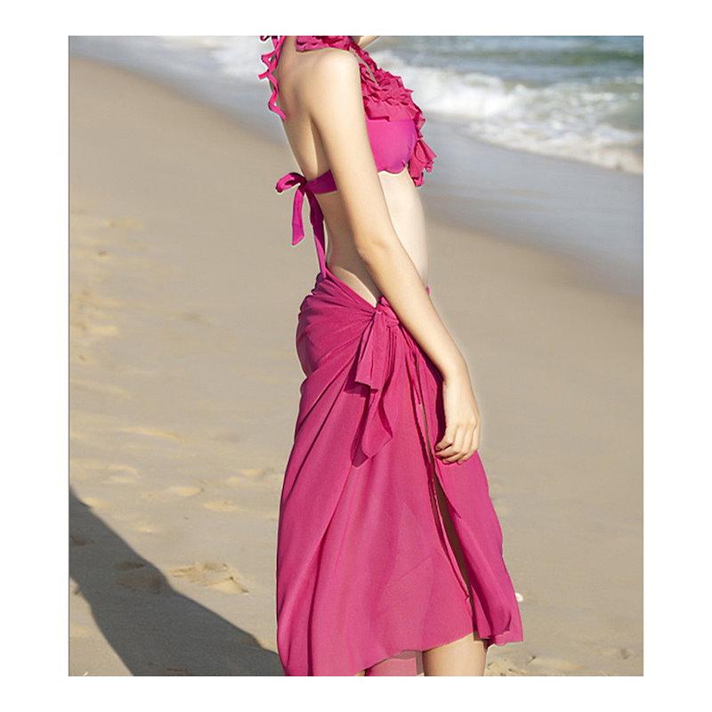 ビキニ 水着 セクシー フリル レディース ファッション セパレート 2点セット アウトドア 4色選べる